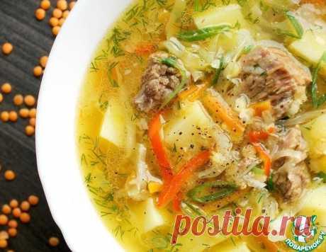 Чечевичный суп с капустой – кулинарный рецепт