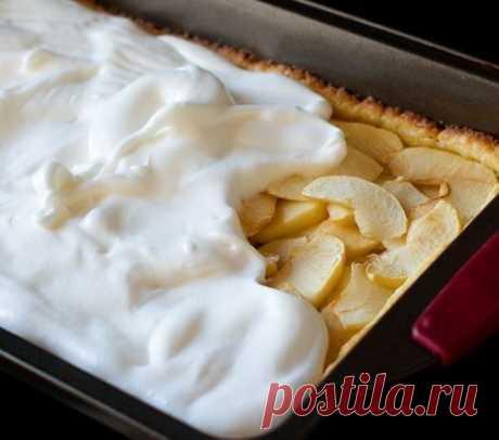Яблочный пирог на сахарном тесте — Sloosh – кулинарные рецепты