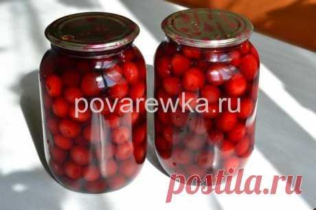 Компот из вишни на зиму: рецепт на 1 литровую банку