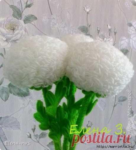 вязание крючком цветы наталья мусихина простые схемы экономим