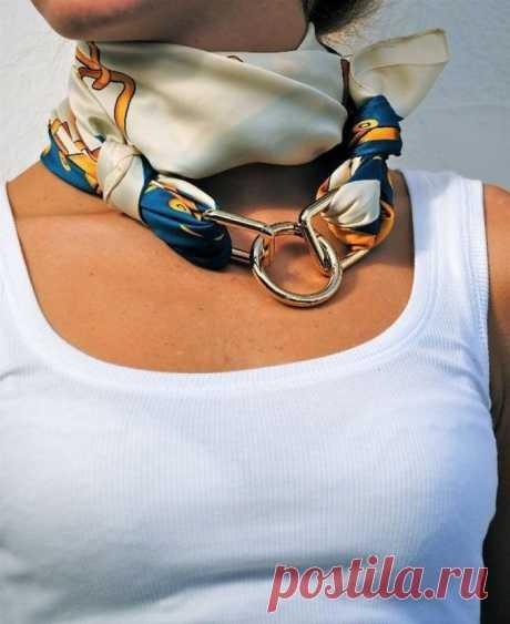 20+ элегантных образов с шарфами и бижутерией | votetodaaa.ru
