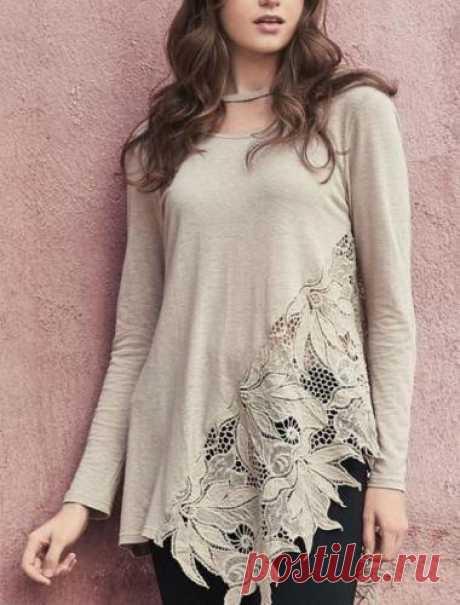 Monoreno Floral Crochet Lace Top w/ Choker - Taupe – Debra's Passion Boutique