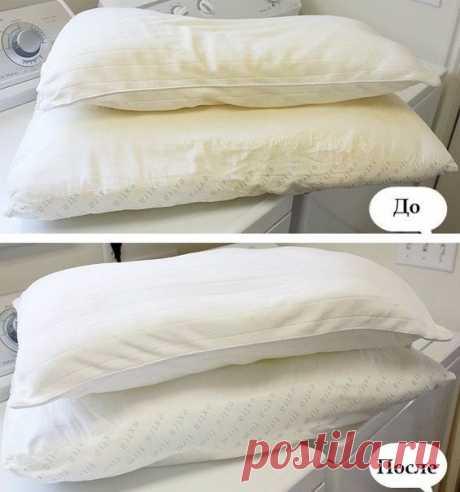 Правильная стирка подушек с синтетическим наполнителем