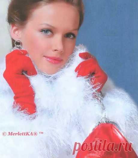 """ng>Пальто """"Искуственный мех"""" - вязание спицами"""
