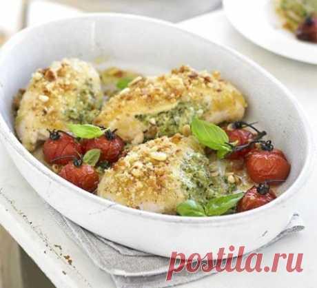 Куриные грудки, фаршированные соусом песто — Sloosh – кулинарные рецепты