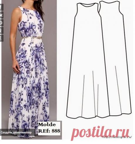 Про длинное платье: варианты, схемы, модели