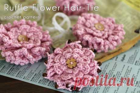 Layered Ruffle Flower - Free Crochet Pattern | Craft Passion