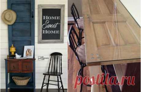 Крутые примеры второй жизни старых дверей — Мой дом