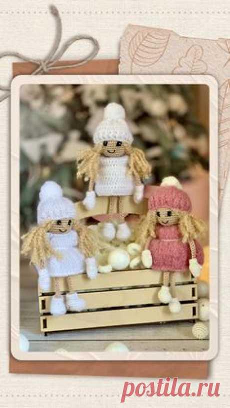 схема вязания крючком, амигуруми, ангелочек, рождество, кукла на новый год