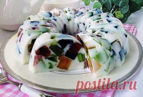 Настоящий праздничный десерт! Торт Битое стекло на сметанном желе Яркий и красивый десерт никого не оставит равнодушным. Для приготовления вам потребуются...