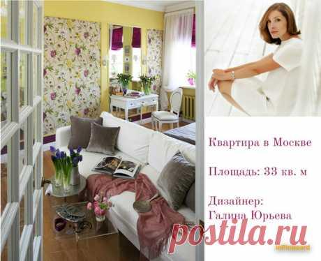 Лимонно-желтая квартира в Москве - 33 кв. м | flqu.ru - квартирный вопрос. Блог о дизайне, ремонте