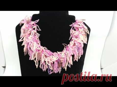 Necklace from beads. Master class. Beads. Beadwork.
