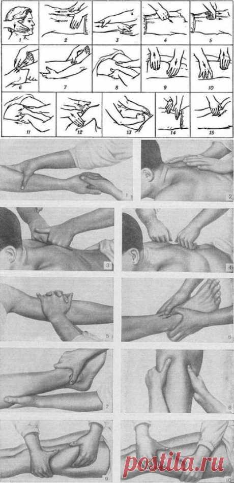 Приемы массажа.