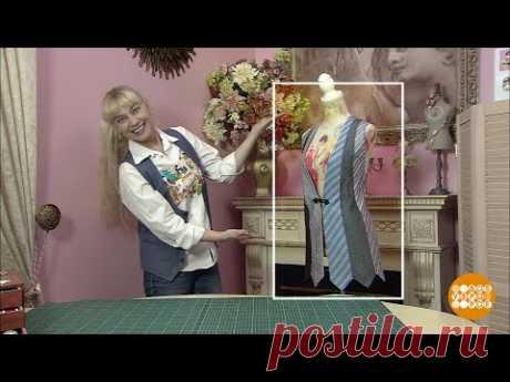 Жилетка из галстуков от Ольги Никишичевой.