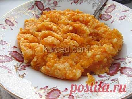 Тыквенная каша с молоком и рисом - Рецепт пошаговый с фото на Kuroed.com