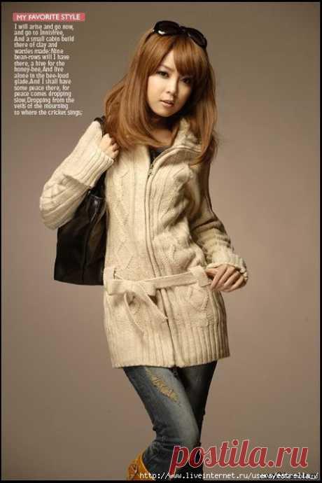 Каким красивым может быть вязаное пальто...
