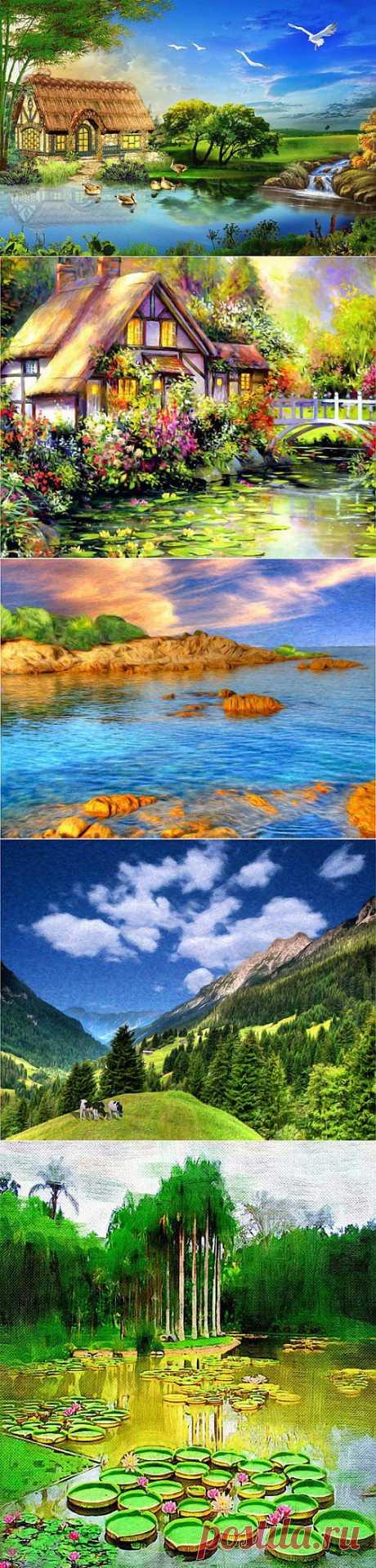Картины пейзажей