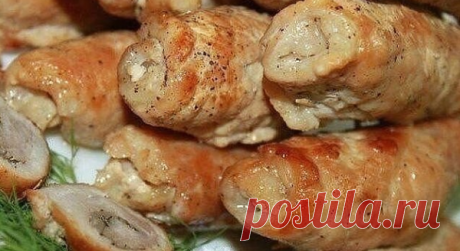 Мясные рулетики с сыром и грибами. Очень вкусные! | вкусный блог | Яндекс Дзен