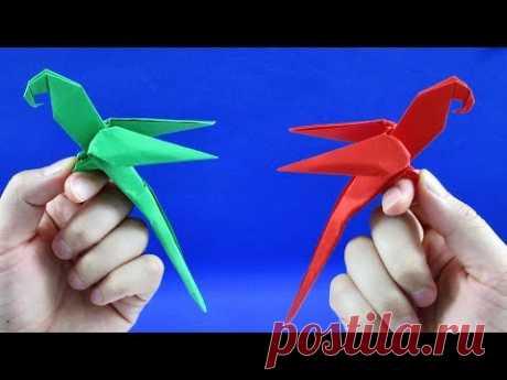 Как сделать попугая из бумаги. Оригами попугай из бумаги (Manuel Sigro)