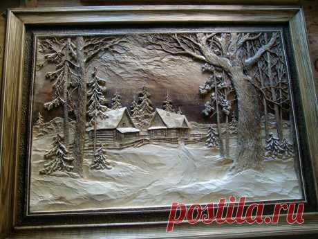 Работа и семейной мастерской художественной резьбы по дереву Виктора Дубовика Россия Брянск