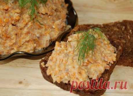 Паста селёдочная с колбасным сыром : Закуски и бутерброды