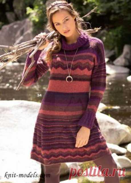 Вязаное платье для зимнего сезона