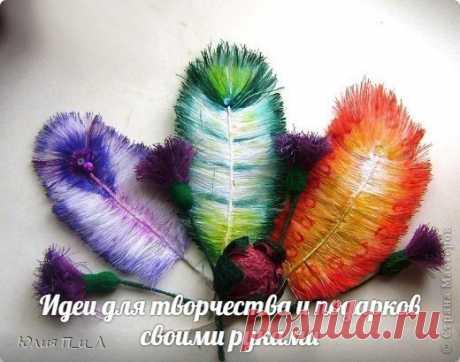 Las plumas de los hilos