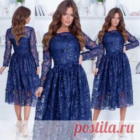 ✴Кружевное платье миди купить недорого