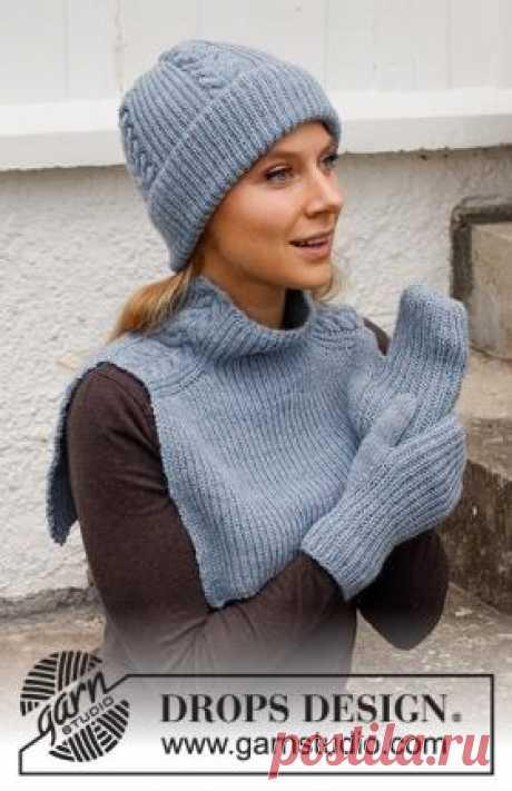 Комплект Сердце города Чудесный женский комплект из смесовой тонкой пряжи, связан спицами 3 мм и 3.5 мм. Комплект состоит из шапки, варежек и...