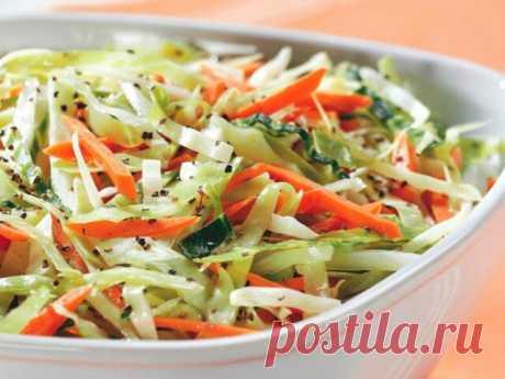 Салаты из свежей капусты — 17 вкусных салатов