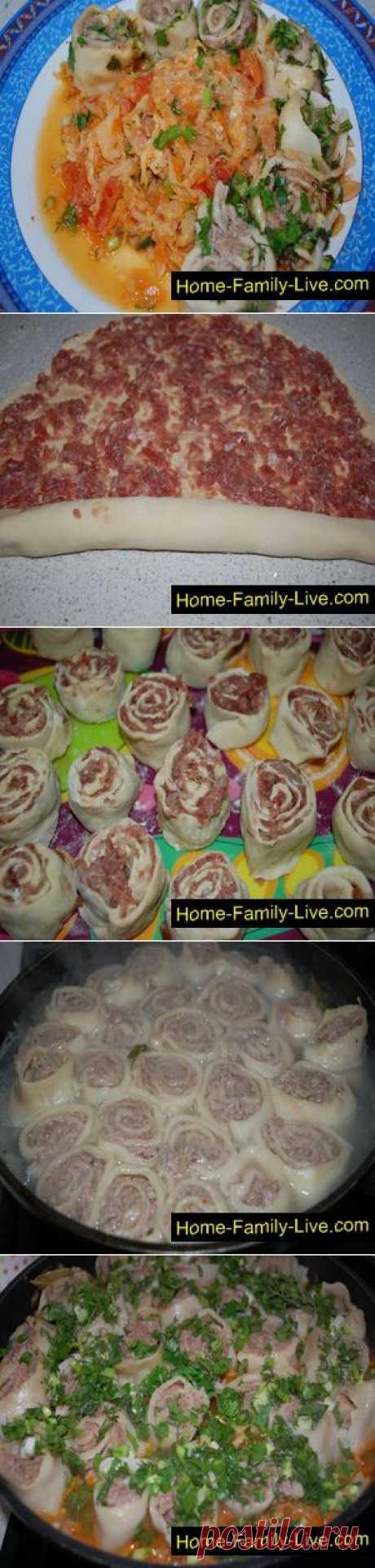 Мясные розочки с капустой - Кулинарные рецепты