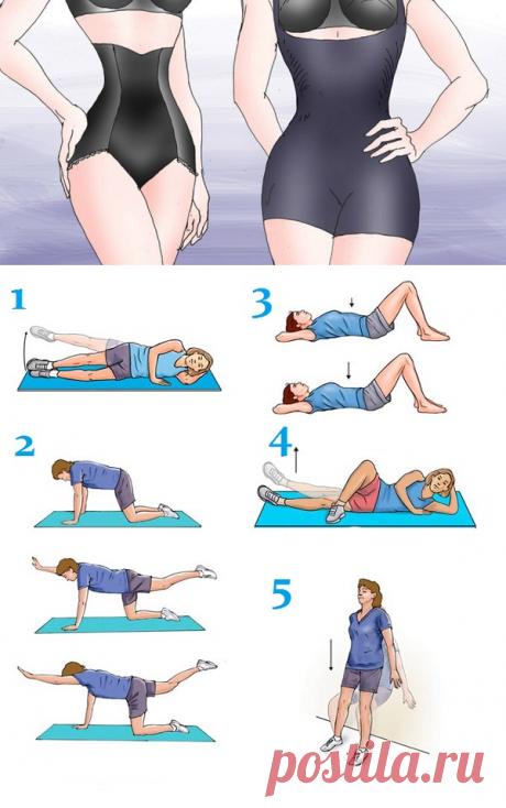 Упражнения для подтягивания дряблой кожи на животе