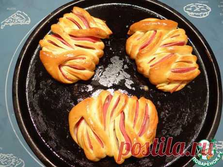пирожки с колбасой,  красота!