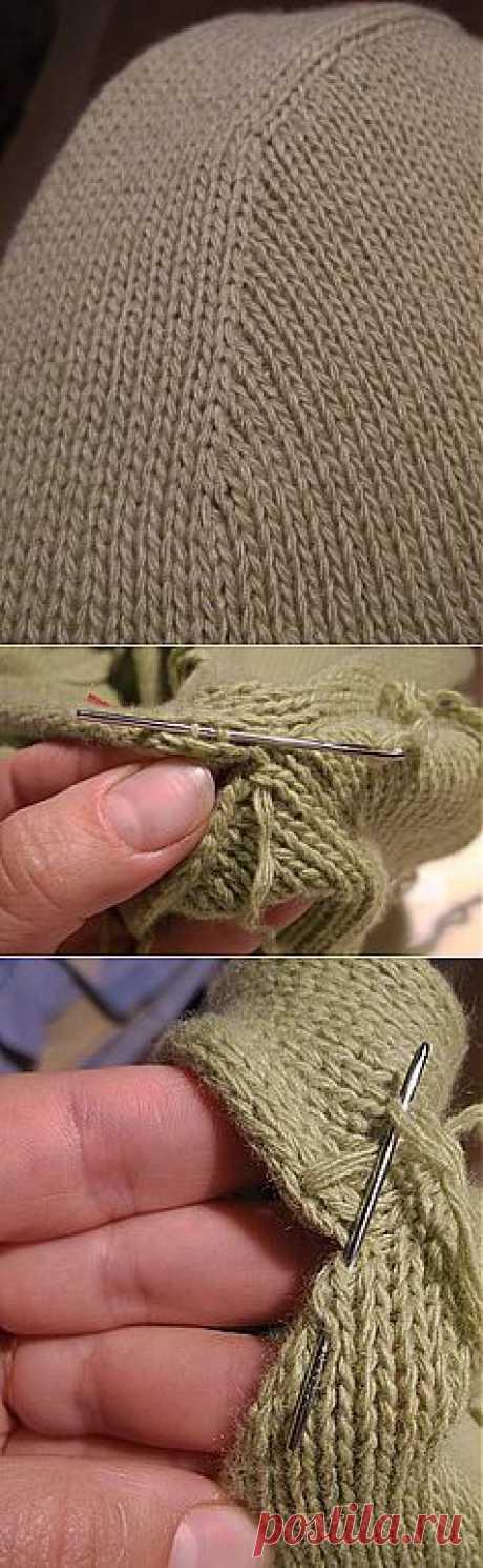 Для тех, кто вяжет. Как красиво вшить рукав. Спицы | Домохозяйки