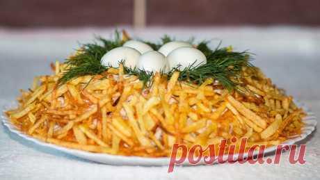 Салат Гнездо глухаря с маринованными огурцами и 15 похожих рецептов: видео, фото, калорийность, отзывы - 1000.menu