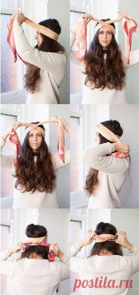 Как завязать платок на голове: модные варианты (пошагово) - tochka.net