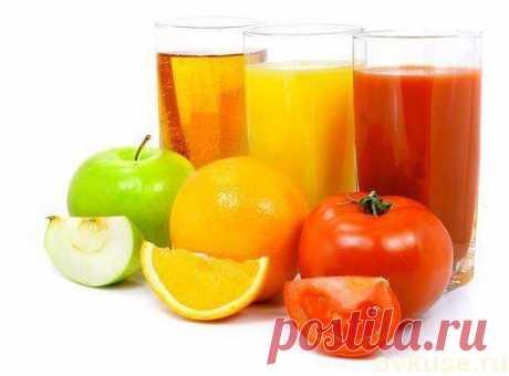 Свежевыжатые соки - выбираем наиболее полезный для себя - Простые рецепты Овкусе.ру