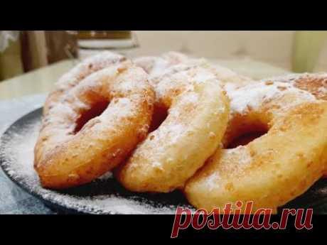 Очень вкусно на завтрак! Попробуйте прямо сейчас! Воздушные творожные колечки-пончики за 30 минут 👌