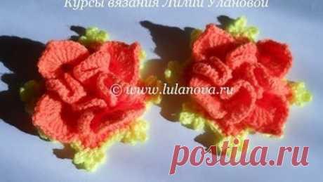 Объемный цветок крючком - Surround flower crochet