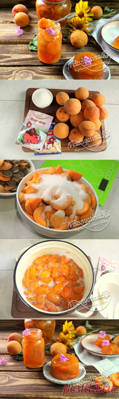 Абрикосы в желе на зиму: рецепт с фото, с агар-агаром