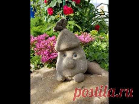 Гномы для сада из бетона. DIY.  Garden gnomes made of concrete.