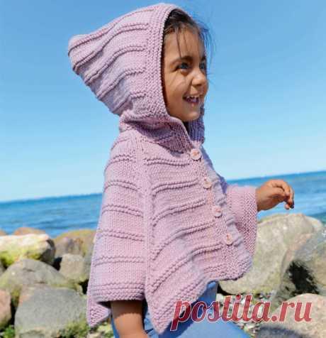 Детское пончо с капюшоном спицами - Портал рукоделия и моды