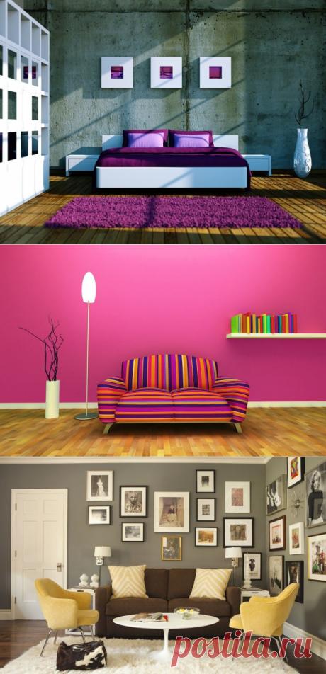 Сочетание цветов в интерьере: как правильно сочитать цвета в доме?