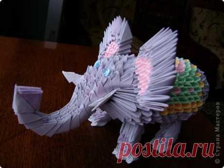 Модульное оригами - мой слон МК