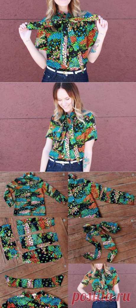Уют, чистота, комфорт и креатив!: Как переделать рубашку: если надоела рубашка с длинным рукавом
