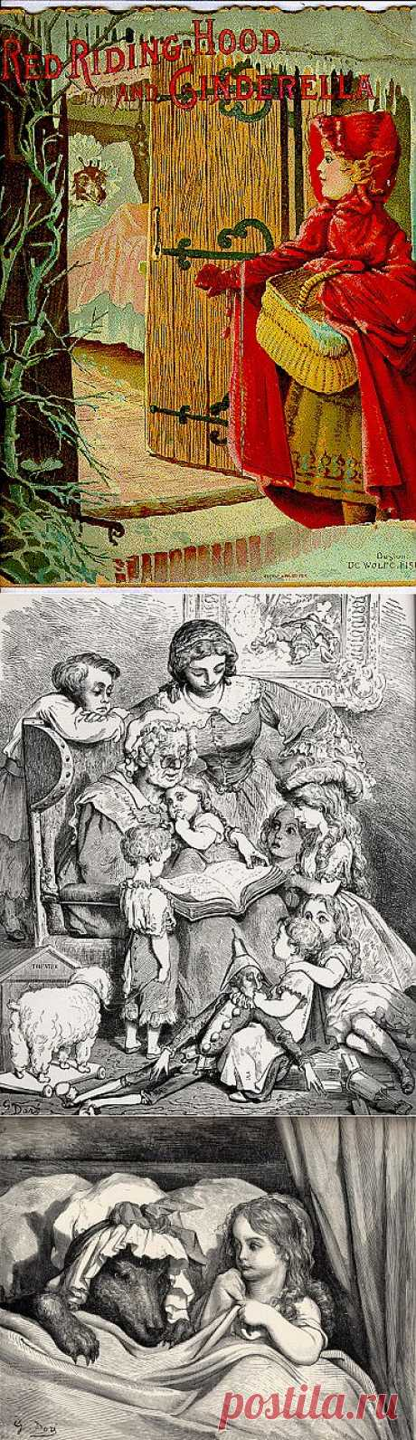 Красная Шапочка -старинные иллюстрации и картины