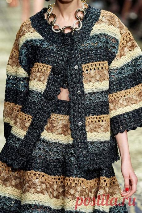 Эксклюзивные вязаные изделия коллекции Dolce & Gabbana (весна-лето 2020) | ВЯЗАНИЕ СПИЦАМИ И КРЮЧКОМ | Яндекс Дзен