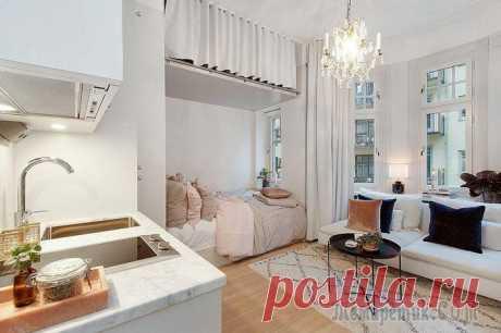 Меньше хрущёвки: квартира 18 кв.м., из которой не захочется переезжать даже в особняк