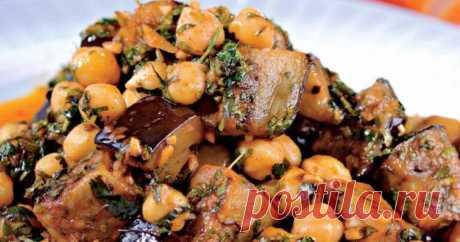 Салат из баклажанов и нута рецепт с фото