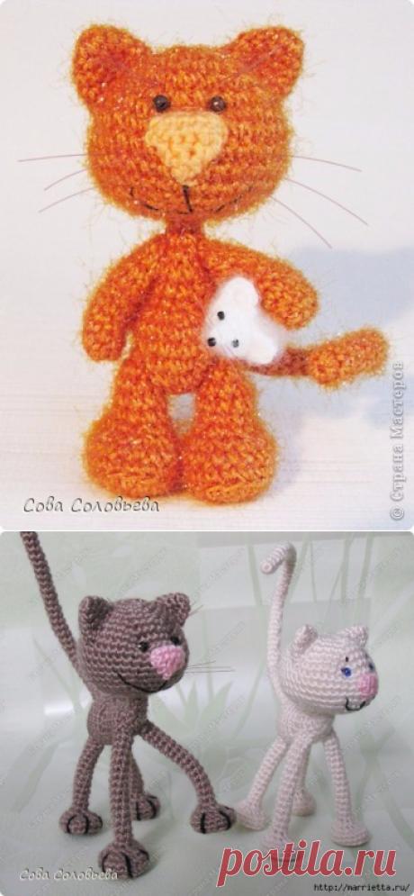 Котики крючком с описанием